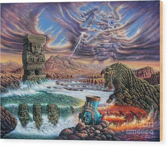 Thundering Gods Wood Print