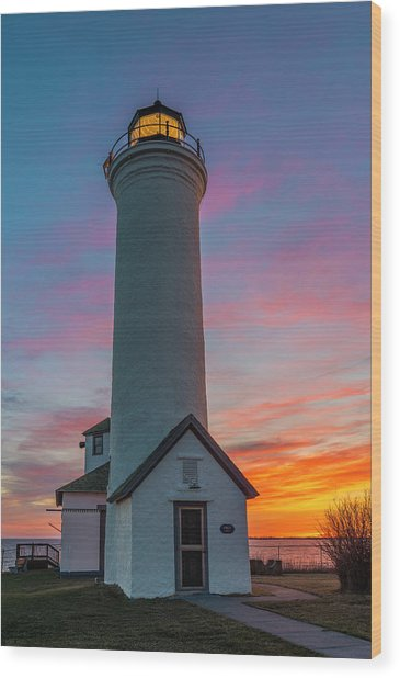 Tibbetts Point Light  Wood Print