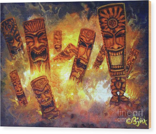 Tiki Hot Spot Wood Print