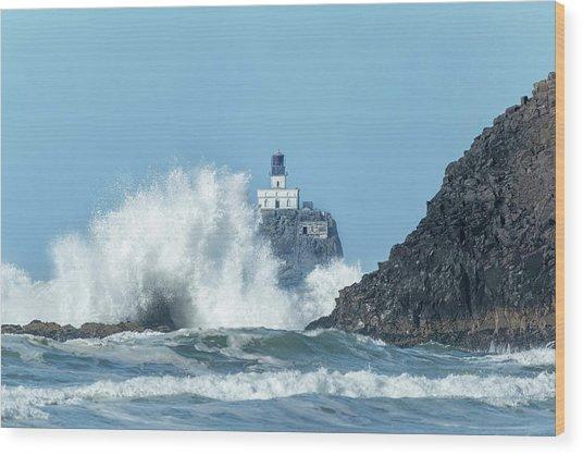 Tillamook Rock Light House, Oregon - Terrible Tilly Wood Print