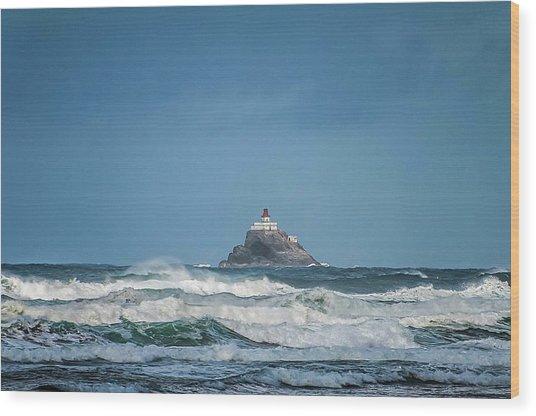 Tillamook Rock Lighthouse Near Cannon Beach Wood Print