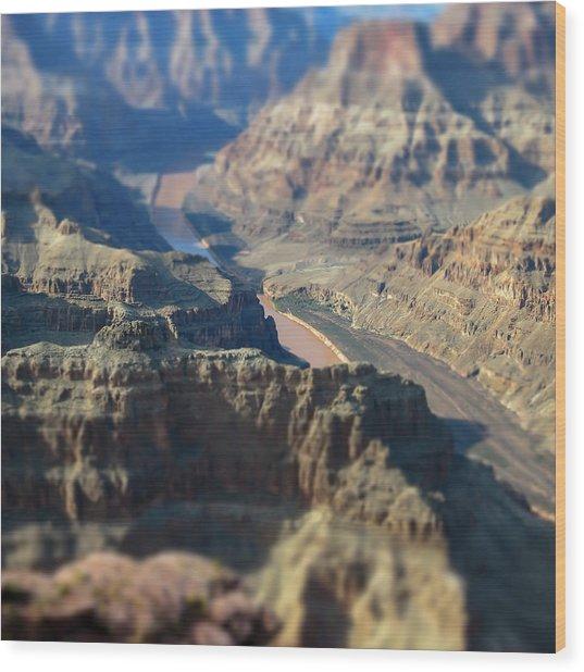 Tiltshifted Grand Canyon Wood Print