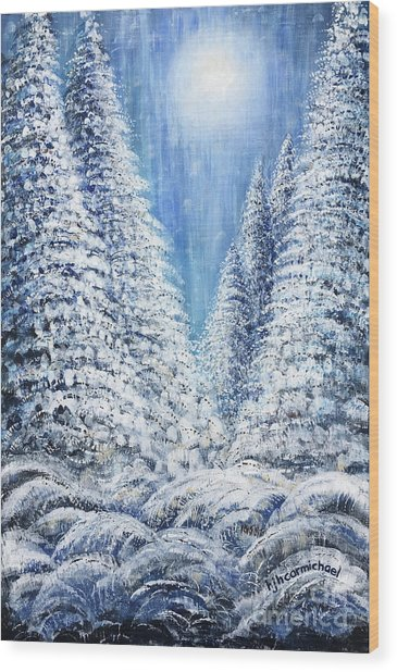 Tim's Winter Forest 2 Wood Print
