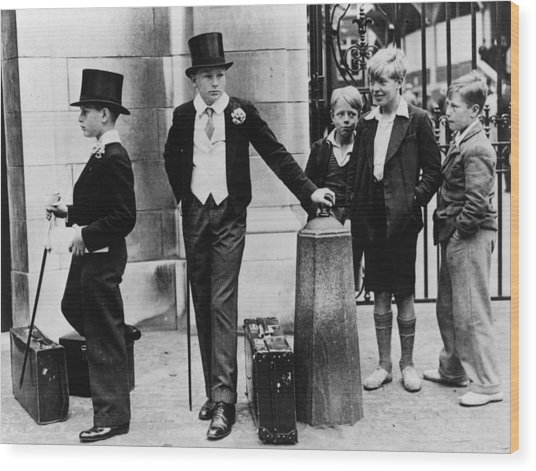 Toffs And Toughs Wood Print by Jimmy Sime