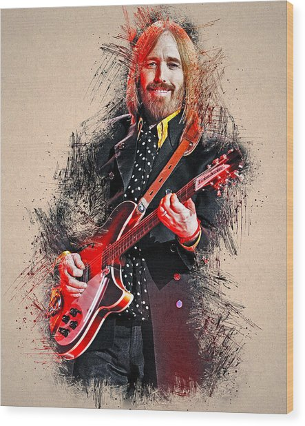 Tom Petty - 35 Wood Print
