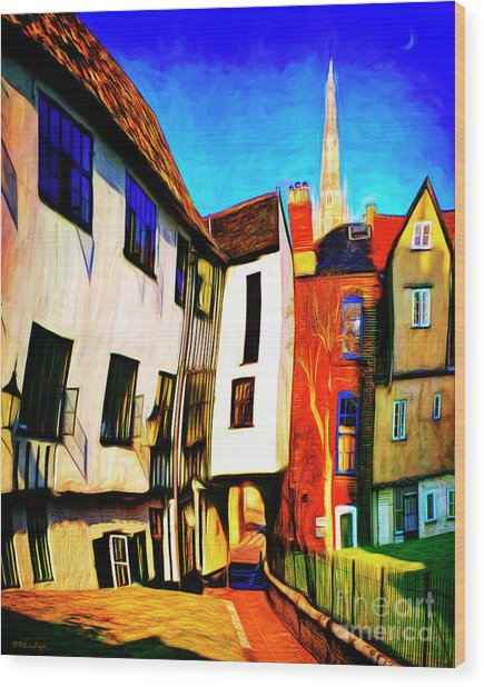 Tombeland Alley Wood Print