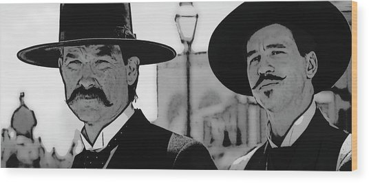 Tombstone Earp Holliday Wood Print