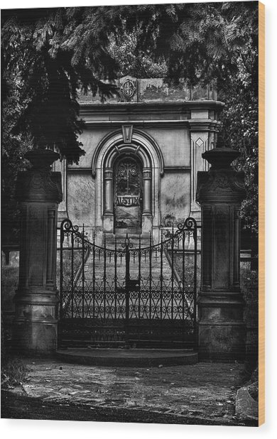 Wood Print featuring the photograph Tombstone Shadow No 6 by Brian Carson