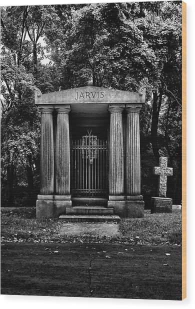 Wood Print featuring the photograph Tombstone Shadow No 7 by Brian Carson