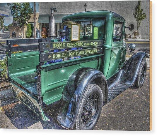 Tom's Electric Truck Wood Print