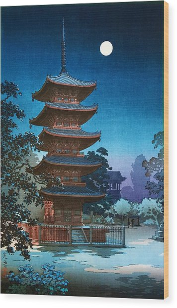 Top Quality Art - Asakusa Kinryusan Wood Print