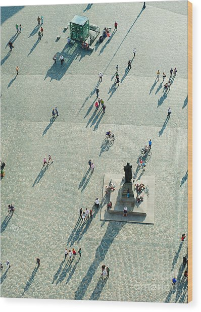 Top View Of  Neumarkt Square In Wood Print