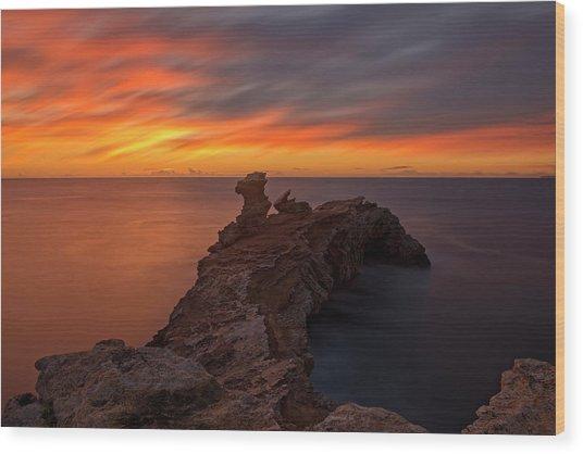 Total Calm At A Sunrise In Ibiza Wood Print