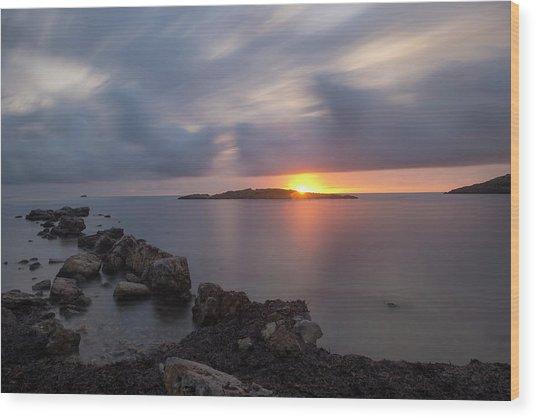 Total Calm In An Ibiza Sunrise Wood Print