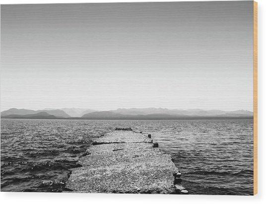 Towards The Nahuel Huapi Lake Wood Print
