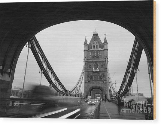 Tower Bridge In London In United Wood Print