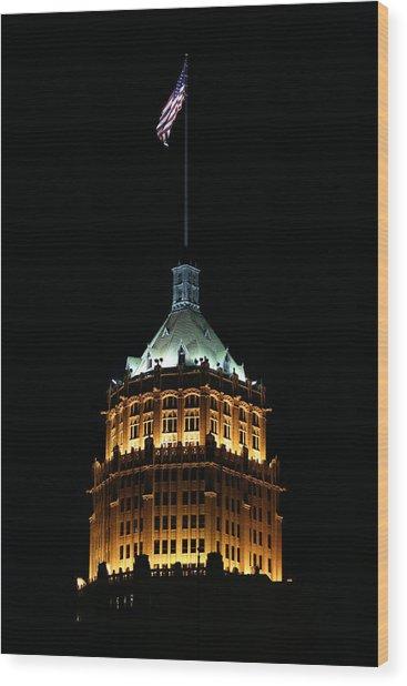 Tower Life Building Wood Print