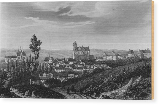 Town Of Le Mans Wood Print by Hulton Archive