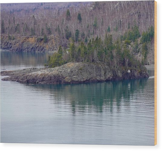 Tranquility In Silver Bay Wood Print