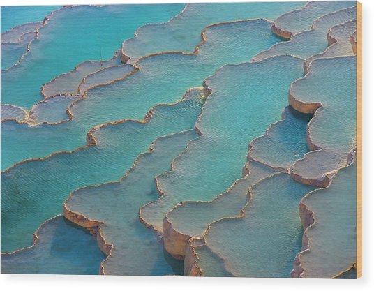 Travertine Terraces Of Pamukkale Wood Print