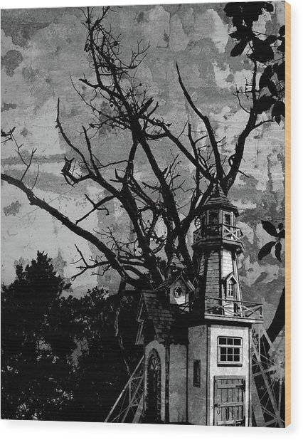Treehouse I Wood Print