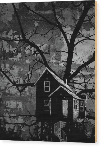 Treehouse II Wood Print