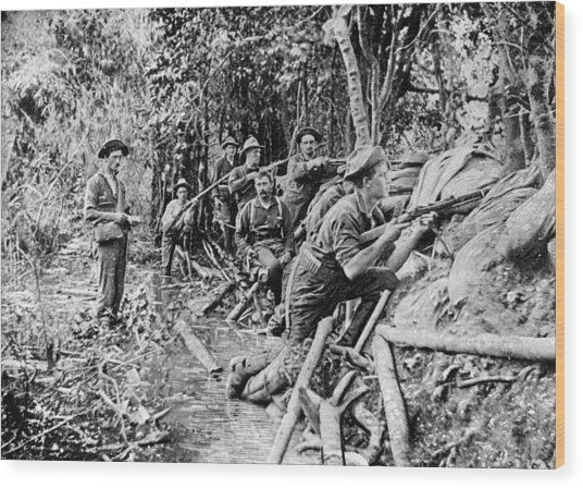 Trench Near Manila Wood Print by Hulton Archive