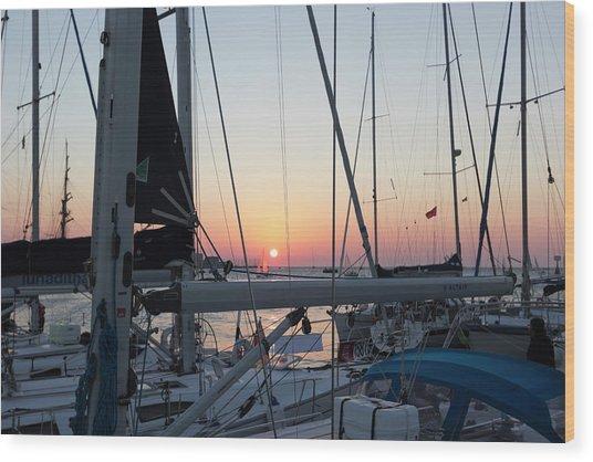 Trieste Sunset Wood Print