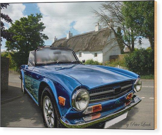 Triumph Tr6 Wood Print