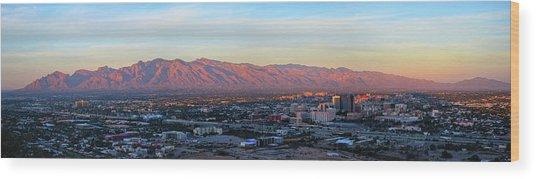 Tucson At Last Light Wood Print