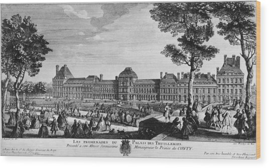 Tuileries Palace Wood Print by Hulton Archive