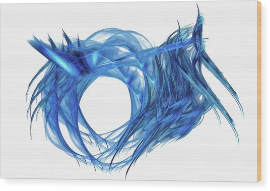 Tunnel Vision Dark Blue Wood Print