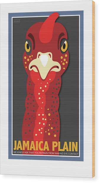 Turkey Stare Jp Wood Print