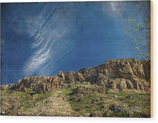 Tuscon Clouds Wood Print