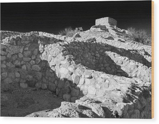 Tuzigoot National Monument Wood Print by Richard Cummins