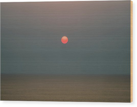 Wood Print featuring the photograph Twilight Sunset At Sea by William Dickman