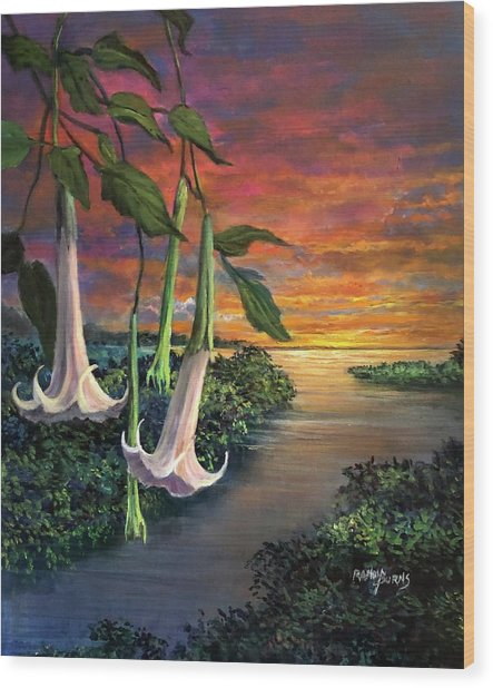 Twilight Trumpets Wood Print