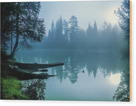 Two Forgotten Boats Wood Print by Baac3nes