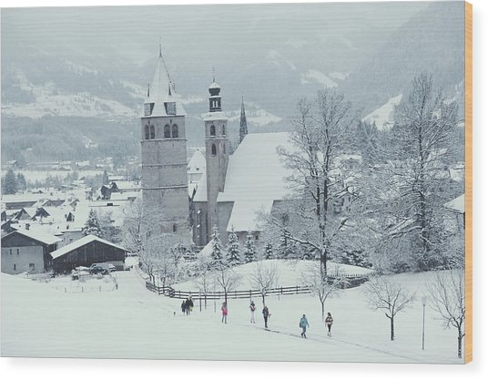 Tyrolean Churches Wood Print by Slim Aarons