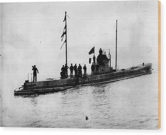 U-boat Wood Print by Topical Press Agency