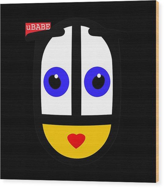 uBABE Black Wood Print