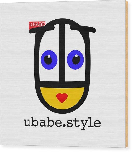 Ubabe De Stijl Wood Print