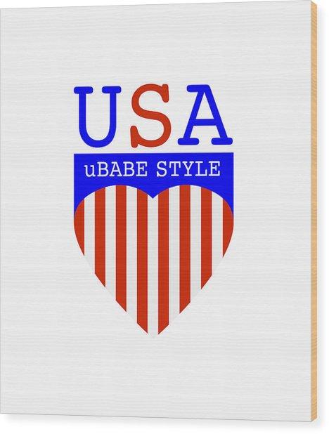Ubabe Style America Wood Print