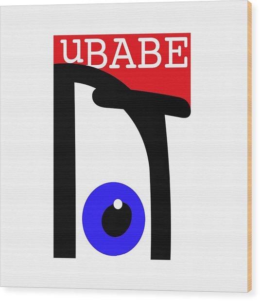 uBABE Wood Print