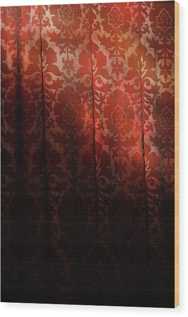 Uk, England, Oxford, Light On Red Fabric Wood Print by Westend61