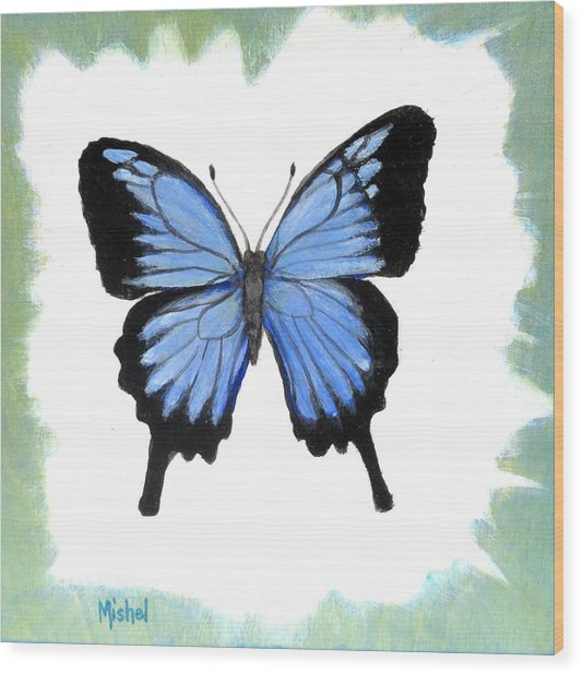 Ulysses Blue Wood Print