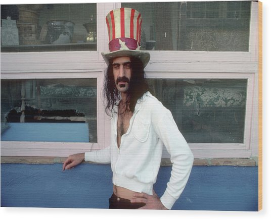 Uncle Zappa Wants You Wood Print by Michael Ochs Archives