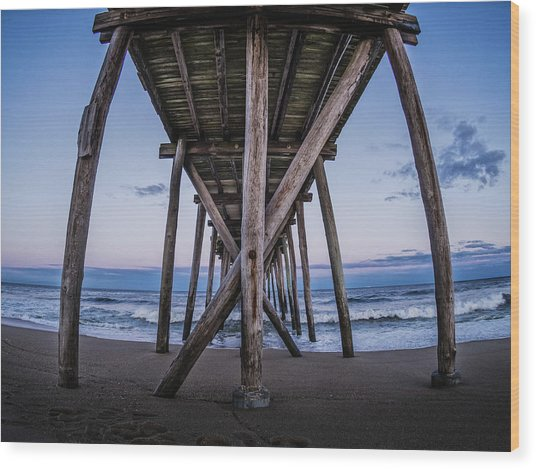 Wood Print featuring the photograph Under The Pier by Steve Stanger