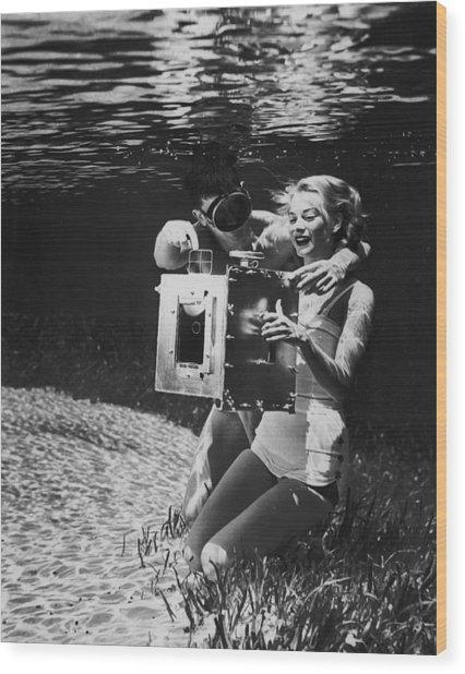 Underwater Photo Wood Print