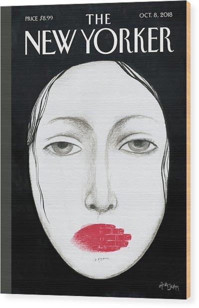 Unheard Wood Print by Ana Juan